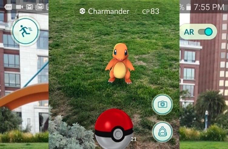 Pokemon GO делать скриншоты
